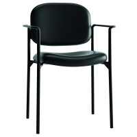Basyx by HON VL616 Guest Chairs with Arms, Charcoal/Black