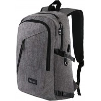 MANCRO LAPTOP BACKPACK GREY 17