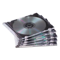 Fellowes 50-pack Slim Jewel Cases- Black