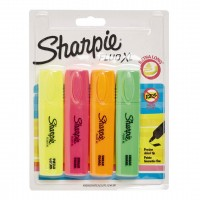 SHARPIE HIGHLIGHTER 4/PK ASSORTED