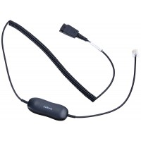 Jabra GN1216 SmartCord - Coiled Headset Cable for Avaya Deskphones