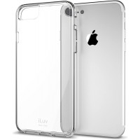 iLuv iPhone 8 PLUS  Durable Dual Material Protective Case with Hard Plastic Clear Back, Soft TPU Frame, Ultra-thin Lightweight Design, Raised Lip on Front, and Access to All Ports/Controls(Clear)