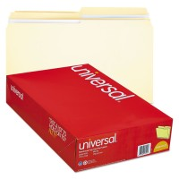 Legal Size File Folder - Standard Height with 2-Ply 1/2 Cut Assorted Tab, Manila - 1/Folder (UNV16122)