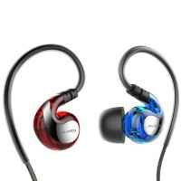AILIHEN Sport Sweatproof Earphones - Blue/Red