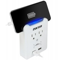 FORZA 2 OUTLET WALL TAP USB