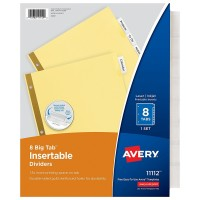 AVERY INDEX BNDR DIVIDERS 8TAB