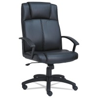 Alera CL4119 CL Series High-Back Leather Chair Black