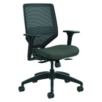 Solve Seating - SVMM1ALCO10 Mid-Back Task Chair, Ink/Black