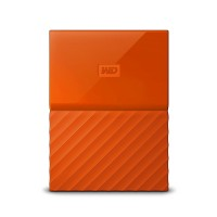 WD 3TB Orange My Passport  Portable External Hard Drive - USB 3.0 - WDBYFT0030BOR-WESN