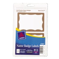 AVERY  NAME BADGE LABEL, 2.343 x 3.375 Size - 100/PACK