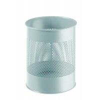 DURABLE Waste basket metal grey