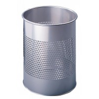 DURABLE Waste basket metal SIL