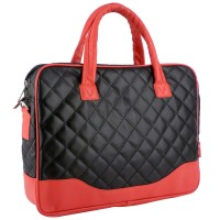 "BLACK DIAMOND 14.1"" RED ACCENT Laptop Bag"