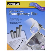 Apollo Plain Paper Copier Film without Sensing Stripe, 8.5 x 11 Inches, Clear Sh