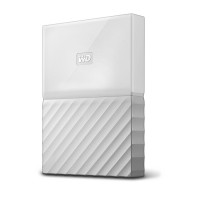 WD 1TB White My Passport  Portable External Hard Drive - USB 3.0