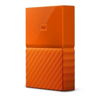 WD 2TB Orange My Passport  Portable External Hard Drive - USB 3.0