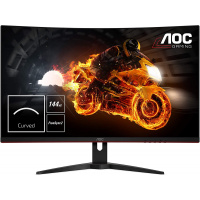 "AOC C32G1 32"" Curved Frameless Gaming Monitor, FHD 1920x1080, VA panel, 1ms MPRT, 144Hz, FreeSync, DisplayPort/HDMI/VGA, VESA, black"