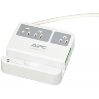 APC 3 OUTLET 3 USB WALL PLUG