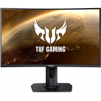 "ASUS - TUF Gaming 27"" LED Curved FHD FreeSync Monitor - Black"