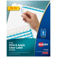 AVERY 2 INCH TAB DIVIDER - WHITE (5 Tabs)