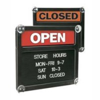US STAMP OPEN/CLOSE SIGN BOARD