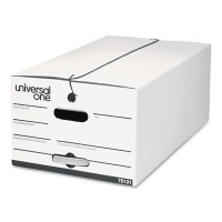 UNIVERSAL STORAGE BOX LEGAL WHITE 1X