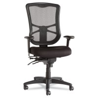 Alera EL41ME10B Elusion Series Mesh High-Back Multifunction Chair, Black