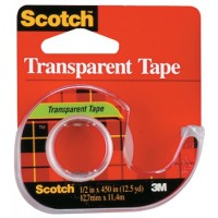 3M TAPE HAND DISPLAY RED TRANSPARENT