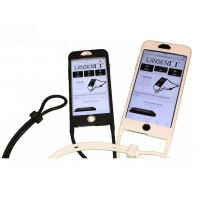 Lanskin Executive Lanyard Skin Case for iPhone 4G - Color Black