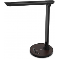LED Dimmable Desk Lamp With USB Charging Port Black