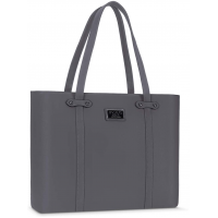 MOSISO 15.6 inch Laptop Tote Bag for Women with Durable Handle, Space Gray
