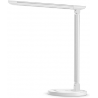 LED Dimmable Desk Lamp With USB Charging Port Wht