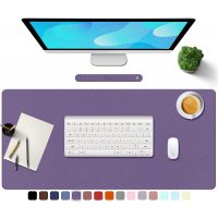 "TOWWI PU Leather Desk Pad with Suede Base, Multi-Color Non-Slip Mouse Pad, 32"" x 16"" Waterproof Desk Writing Mat, Large Desk Blotter Protector (Voilet)"