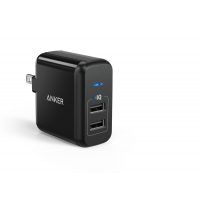 Anker 2-Port 24W USB Wall Charger - Black