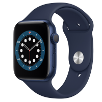 Apple Watch Series 6 (GPS) 44mm Blue Aluminum Case with Deep Navy Sport Band