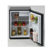 Avanti 24 Inch Compact Refrigerator with Chiller Compartment, Crisper Drawer, Can Bin, 5.2 cu. ft. Capacity, Adjustable Glass Shelf, 3 Door Bins, LED Lighting and ENERGY STAR - Black