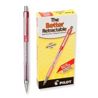 PILOT RET MEDIUM POINT RED 12X