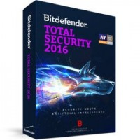 Bitdefender Total Security 2016 - 1 Year - 3 Users - DVD Case (PC)
