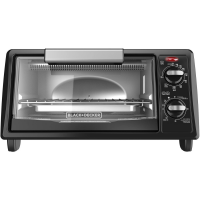 Black and Decker 4-Slice Toaster Oven Black