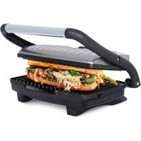 Brentwood TS-611 Compact 1000-Watt Non-Stick Panini Press & Sandwich Maker, Stainless Steel