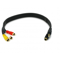 C2G S-Video And 3.5mm to RCA Audio Video 12ft