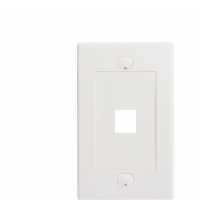 CABLE MATT WALL PLATE 1 PORT