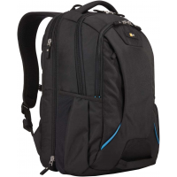 Case Logic Checkpoint-Friendly Laptop Backpack 15.6in Black/Blue