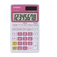 CASIO STANDARD SOLAR WALLET CALCULATOR PINK