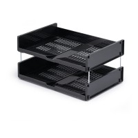 DURABLE Letter tray OPTIMO A4 ANTHRACITE GREY