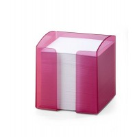 DURABLE NOTE BOX TRANSLUCENT - PINK