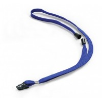 DURABLE BLUE CORD BADGE (10 PIECES)