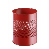 DURABLE Waste basket metal red