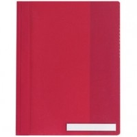 DURABLE Clear VIEW Management Folder -  RED