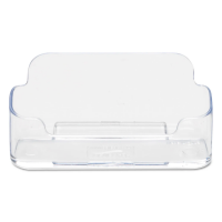 Deflect-O(R) Single-Compartment Business Card Holder, 50-Card Capacity, Clear